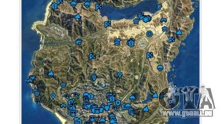 GTA v: Le manuel : le plan de l'espace interactif pour GTA 5