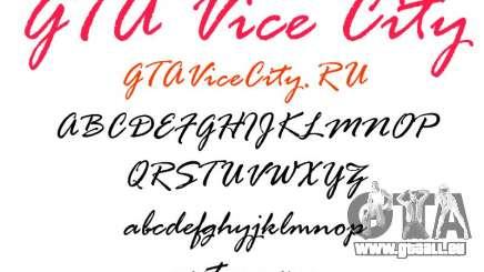 Die offizielle Schrift für GTA Vice City für GTA Vice City