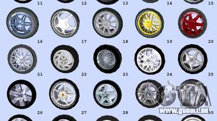 Super Wheel Mods v2 pour GTA Vice City
