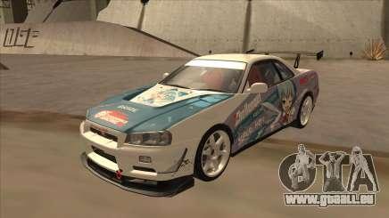 Nissan Skyline R34 Itasha für GTA San Andreas