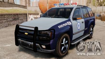 Chevrolet Trailblazer 2002 Massachusetts Police pour GTA 4
