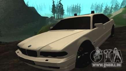 BMW 750iL E38 avec lumières clignotantes pour GTA San Andreas