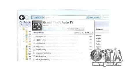 OpenIV 0.9.3 für GTA 4