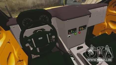 Land Rover Bowler Pick UP pour GTA 4 est une vue de l'intérieur