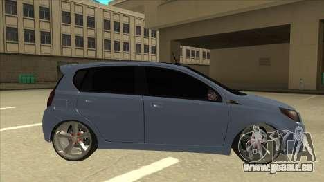 Chevrolet Aveo LT pour GTA San Andreas sur la vue arrière gauche