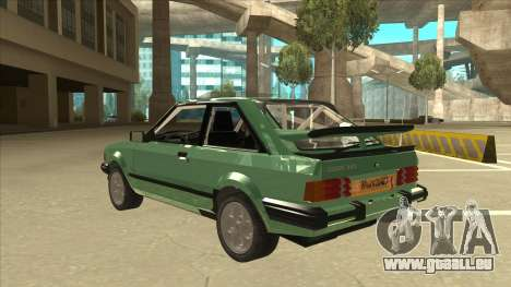 Ford Escort XR3 With Cosworth Spoiler für GTA San Andreas Rückansicht