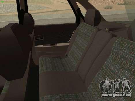 Lada Priora pour GTA San Andreas vue de dessus