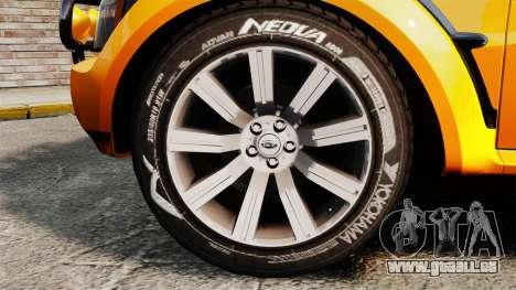 Land Rover Bowler Pick UP pour GTA 4 Vue arrière
