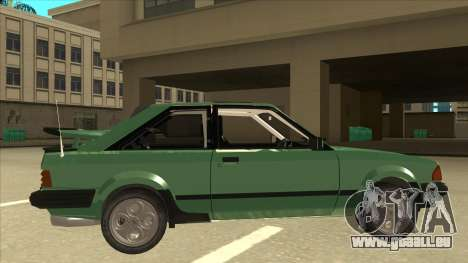 Ford Escort XR3 With Cosworth Spoiler für GTA San Andreas zurück linke Ansicht