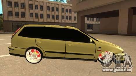 Fiat Marea Weekend pour GTA San Andreas sur la vue arrière gauche