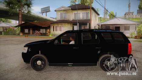 Chevrolet Tahoe LTZ 2013 Unmarked Police pour GTA San Andreas laissé vue