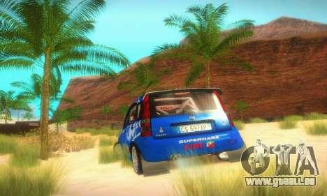 Fiat Panda Rally für GTA San Andreas Rückansicht