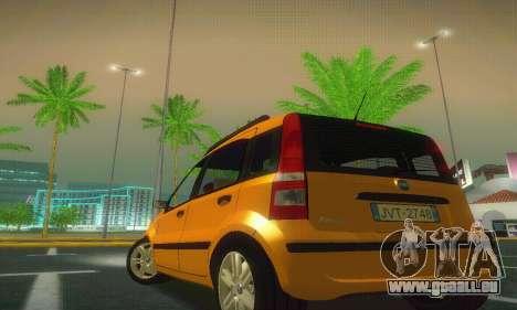 Fiat Panda Taxi für GTA San Andreas zurück linke Ansicht