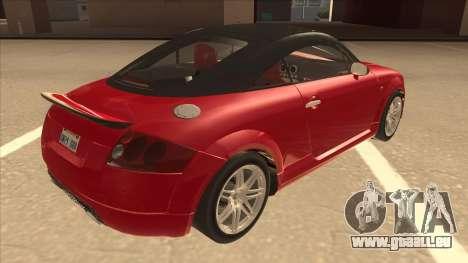 Audi TT Coupe BiMotor Black Revel pour GTA San Andreas vue de droite
