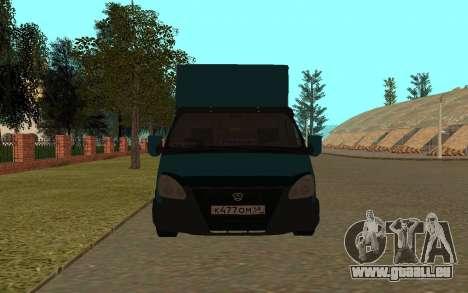 Gazelle 33023 pour GTA San Andreas laissé vue