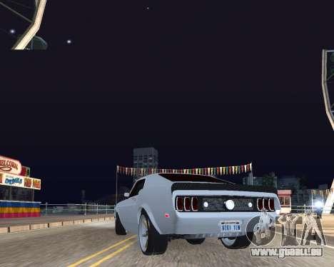 Ford Mustang Anvil pour GTA San Andreas sur la vue arrière gauche