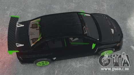 Mitsubishi Lancer Evolution VII Freestyle für GTA 4 rechte Ansicht