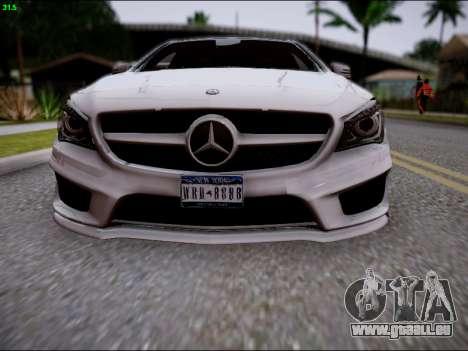 Mercedes-Benz CLA 250 pour GTA San Andreas vue de dessus
