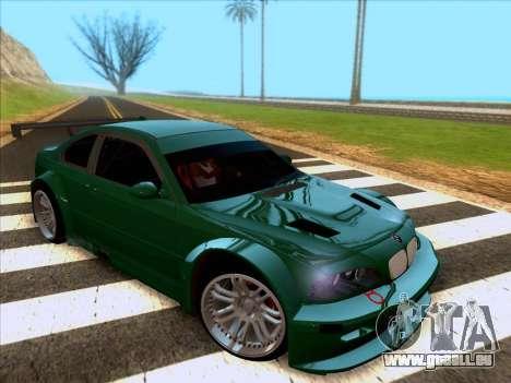 BMW M3 E46 GTR pour GTA San Andreas laissé vue