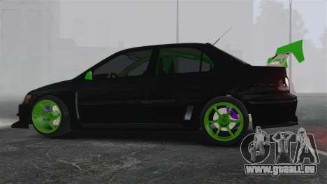 Mitsubishi Lancer Evolution VII Freestyle für GTA 4 linke Ansicht