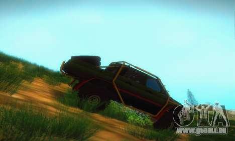 UAZ Patriot camionnette pour GTA San Andreas sur la vue arrière gauche