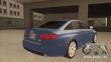 2010 Audi A6 4.2 Quattro pour GTA San Andreas vue de droite