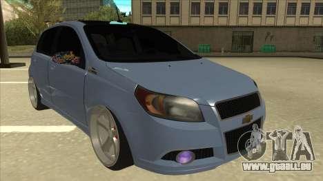 Chevrolet Aveo LT pour GTA San Andreas laissé vue