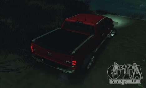 Dodge Ram 2500 HD pour GTA San Andreas vue de dessous