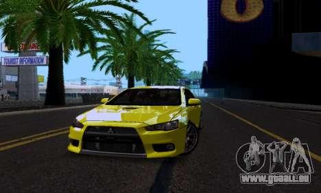 Mitsubishi Lancer Evo Drift Edition für GTA San Andreas Innenansicht