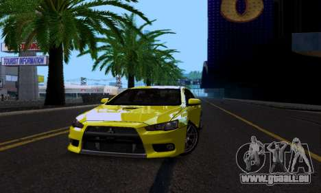Mitsubishi Lancer Evo Drift Edition pour GTA San Andreas vue intérieure