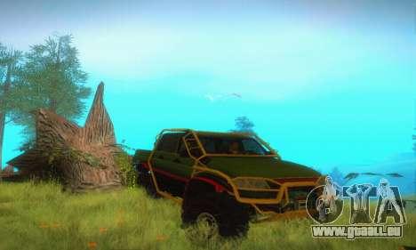 UAZ Patriot camionnette pour GTA San Andreas vue intérieure