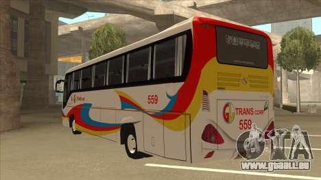 Kinglong XMQ6126Y - GL Trans 559 pour GTA San Andreas vue arrière
