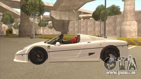 Ferrari F50 GT TT Black Revel für GTA San Andreas Innenansicht