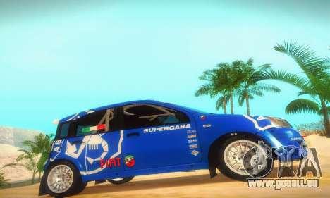 Fiat Panda Rally pour GTA San Andreas sur la vue arrière gauche