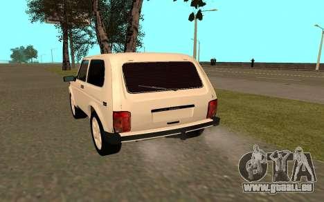 Le Niva VAZ 21213 pour GTA San Andreas sur la vue arrière gauche