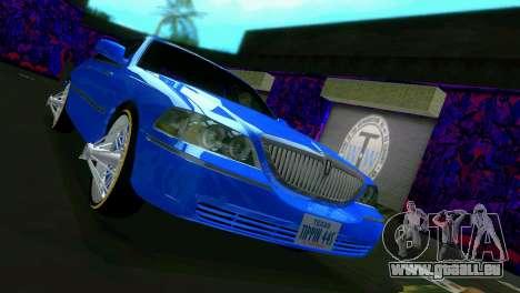 Lincoln Town Car Tuning pour GTA Vice City sur la vue arrière gauche