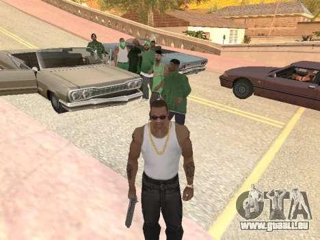 Trois mecs dans un gang de rue de Groove pour GTA San Andreas troisième écran