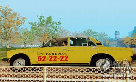 VAZ 2106 Taxi für GTA San Andreas Innenansicht