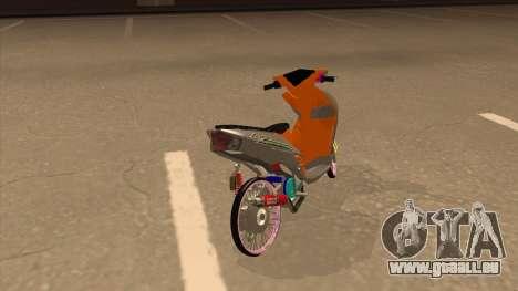 Yamaha Mio Soul 2 für GTA San Andreas zurück linke Ansicht