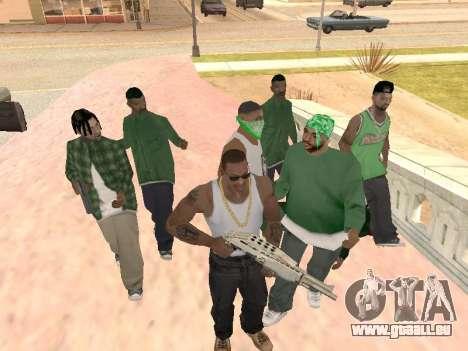 Trois mecs dans un gang de rue de Groove pour GTA San Andreas