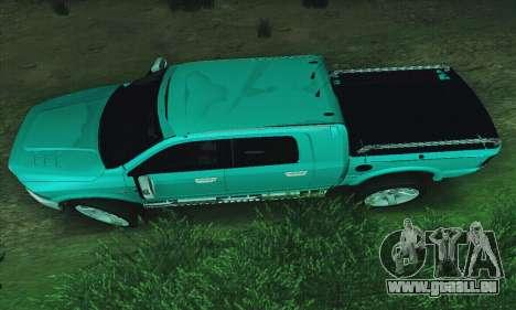 Dodge Ram 2500 HD pour GTA San Andreas laissé vue