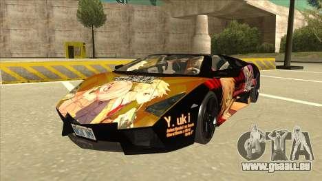 Lamborghini RR Kyoukai No Kanata Itasha pour GTA San Andreas