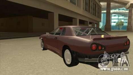 Elegy Drift Missile pour GTA San Andreas vue arrière