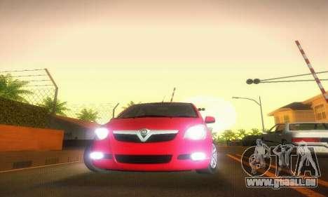 Vauxhall Agila 2011 pour GTA San Andreas vue intérieure