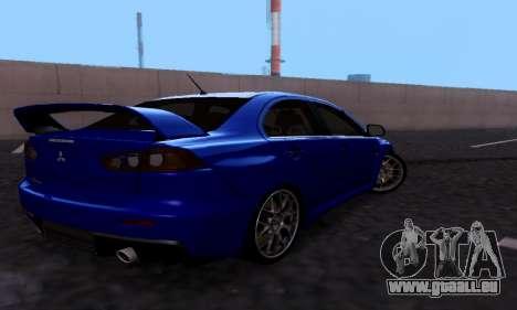 Mitsubishi Lancer Evo Drift Edition pour GTA San Andreas vue de droite