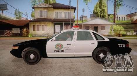 Vapid GTA V Police Car für GTA San Andreas linke Ansicht