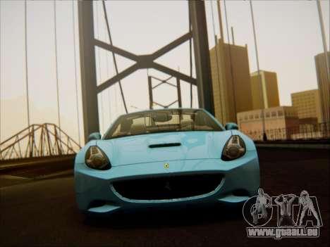 Ferrari California 2009 für GTA San Andreas Innenansicht