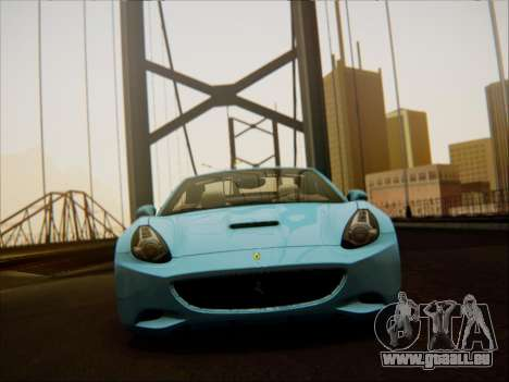 Ferrari California 2009 pour GTA San Andreas vue intérieure