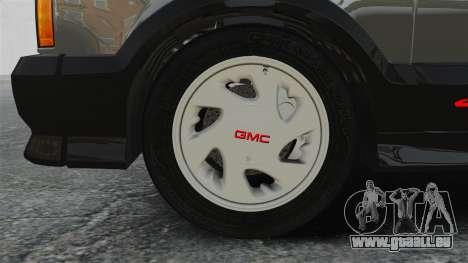 GMC Syclone 1992 pour GTA 4 Vue arrière