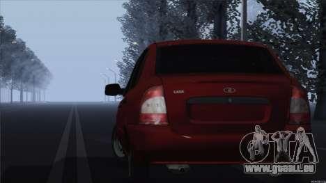 Kalina 1118 VAZ pour GTA San Andreas sur la vue arrière gauche